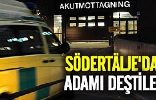 Södertälje'da adamın karnını deştiler!
