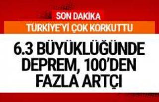 Son deprem Türkiye'de! 6.3'lük deprem...