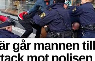 Stockholm'de Müslümanlara hakaret eden bir kişi...