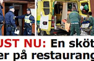 Stockholm'de, Restoran'da 1 kişi vuruldu...FOTO