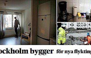Stockholm'de sığınmacılar için yeni evler yapılıyor