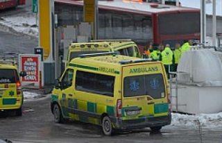 Stockholm'de yolcu taşıyan otobüsler çarpıştı...
