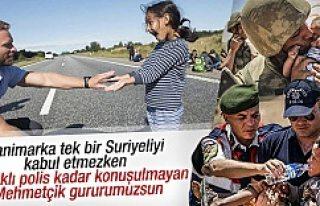 Suriyeli sığınmacılara Mehmetçik'ten şefkat...