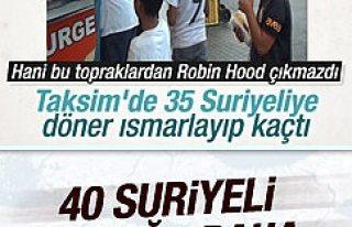 Taksim'deki dönerci 40 Suriyeli çocuğa daha...