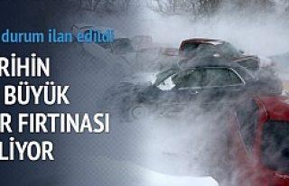 Tarihin en büyük kar fırtınası alarmı verildi!