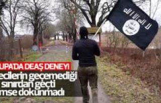 Terörist görünümüyle Danimarka'dan Almanya'ya...