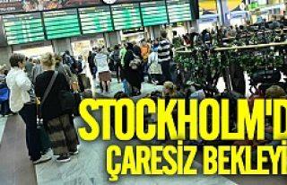 Tren istasyonlarında şok Stockholm'da raylar...