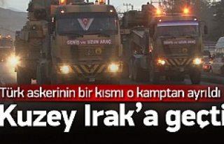 Türk askerleri o kamptan ayrıldı