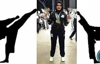 Türk kızı Büşra, İsveç Gençler Karate şampiyonu...