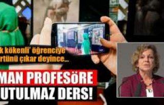 Türk öğrenciye başörtünü çıkar diyen profesöre...
