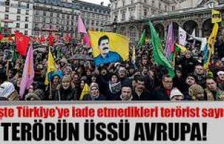Türkiye'den kaçan teröristlerin sığınağı:...