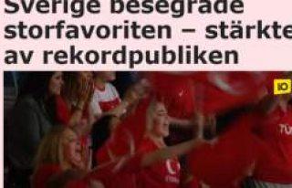 Türkiye İsveç maçında tüm zamanların seyirci...
