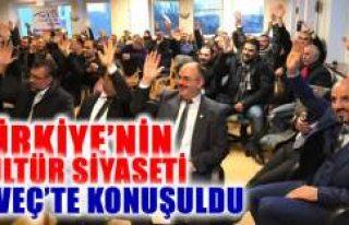 Türkiye'nin Kültür Siyaseti İsveç'te...