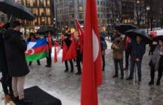 """UETD'den Norveç'te """"Zeytin Dalı Harekatı""""..."""