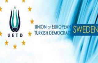 UETD İsveç'ten Basın Açıklaması