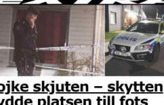 Västerhaninge'de bir genç vuruldu