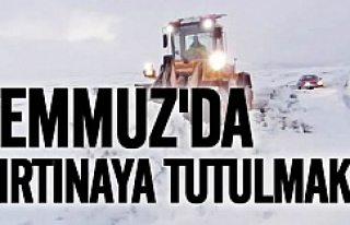 Yaz ortasında İsveç'te kar fırtınasına...