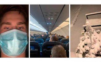 İsveç'te kar nedeniyle uçaklar inemedi