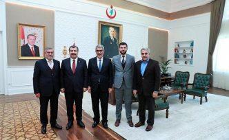 Ağralı ve Ünver'den Sağlık Bakanı Koca'ya ziyaret