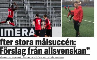 İsveç'teki süper Türk yeteneğe 1. Lig'den teklif