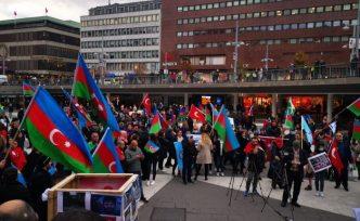 İsveç'te, Ermenistan'ın Azerbaycan topraklarına saldırılarına protesto