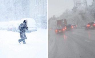 İsveç'te yılın ilk kar yağışı bazı bölgelerde etkili oluyor