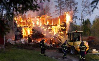Villa'da büyük yangın