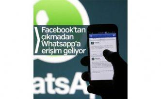 Facebook'tan Whatsapp'a direkt erişim