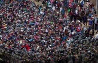 Sınırda arbede: Göçmenler ordu ile karşı karşıya