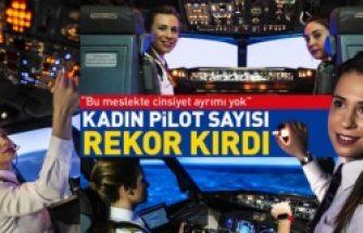 Kadın pilot sayısında tarihi rekor kırıldı