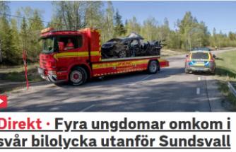 İsveç'te dört genç kazada hayatını kaybetti
