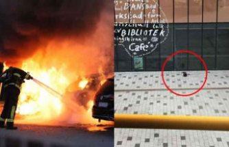 Stockholm'de 18 araç ateşe verildi, belediye önünde bomba alarmı