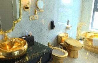 Dünyanın sıradışı oteli: Dış cephesi, havuzu ve odaları 24 ayar altınla kaplı 5 yıldızlı otel hizmete girdi