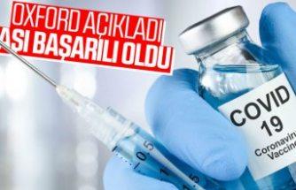 Oxford'un koronavirüs aşısı başarılı oldu