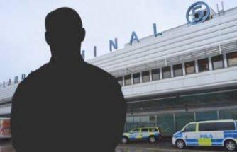 Aranan şahıs Arlanda havalimanına inince yakalandı