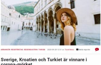 İsveç'in turizm gazetesi: ''Karanlık koronavirüs günlerinin kazananları Türkiye, Hırvatistan ve İsveç''