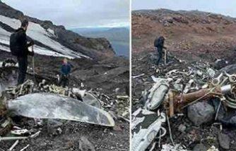 İzlanda'da düşen uçağın enkazı 76 yıl sonra ortaya çıktı