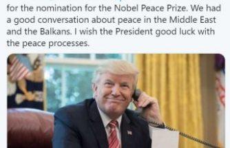 Trump'dan kendisini Nobel'e aday gösteren İsveçli siyasetçiye teşekkür