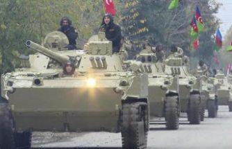 Azerbaycan ordusu 27 yıl sonra Kelbecer iline girdi