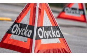 Stockholm'de talihsiz adama iki araç birden çarptı