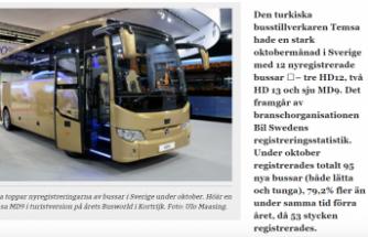 Türk firması Temsa, ilk elektrikli otobüs ihracını İsveç'e yaptı