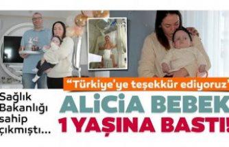 Türkiye Sağlık Bakanlığı'nın sahip çıktığı, İsveçli Alicia 1 yaşına girdi