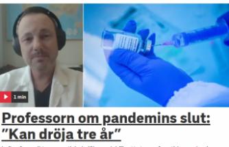 İsveçli profesör pandeminin biteceği tarihi açıkladı
