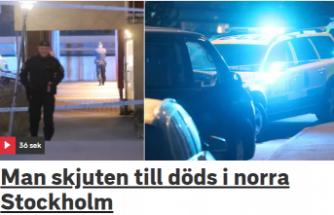 Stockholm'de bir genç öldürüldü