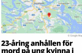 Stockholm'de genç bir kadın öldürüldü
