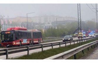 Stockholm dışında zincirleme kaza