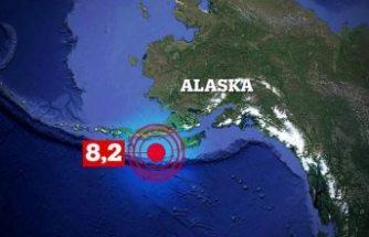 Alaska'da 8.2 büyüklüğünde deprem meydana geldi, tsunami uyarısı yapıldı