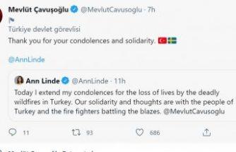 İsveç Dışişleri Bakanı Linde'den Türkiye'ye orman yangınları için dayanışma ve taziye mesajı