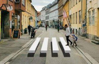 Danimarka'da araçları durdurmak için ilginç yöntem