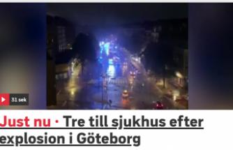Göteborg'de patlama: 3 kişi yaralandı